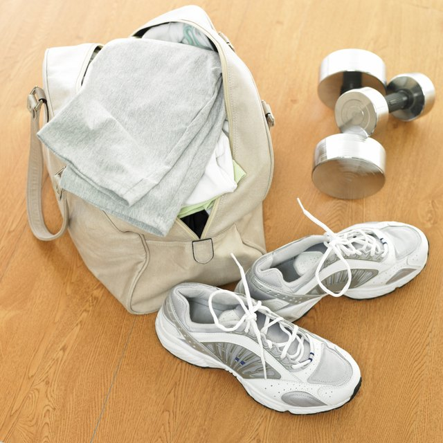sport goods and a bag