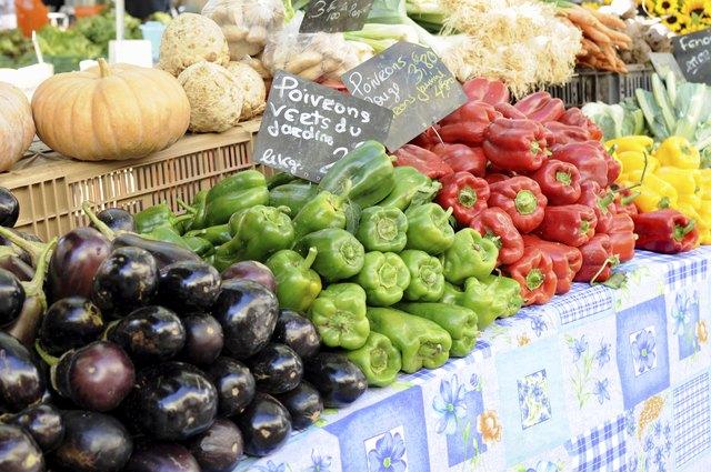 Vegetables in farmer's market of France