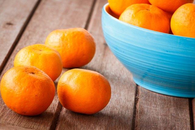 orange on wooden