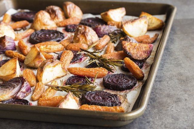 Rosemary roasted root vegetables