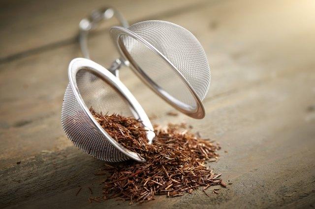 tea ball with rooibos tea