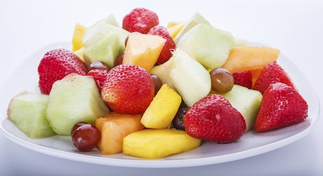 White Plate of Cut Fruit