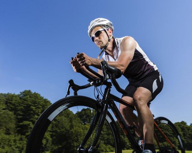 triathlete on the bicycle