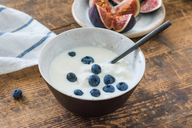 Healthy breakfast with yogurt and berries