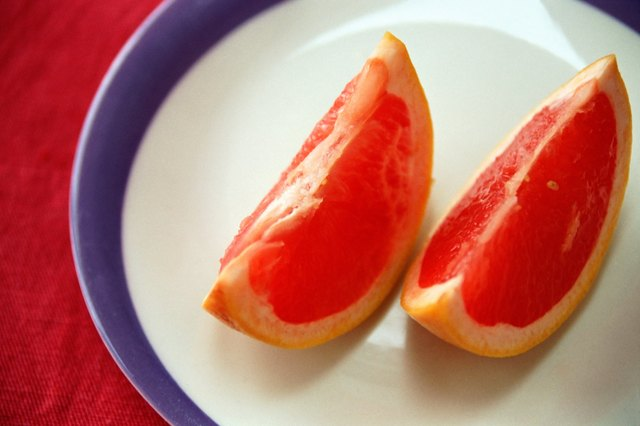 Segments of blood orange