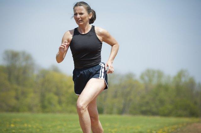 mature woman running