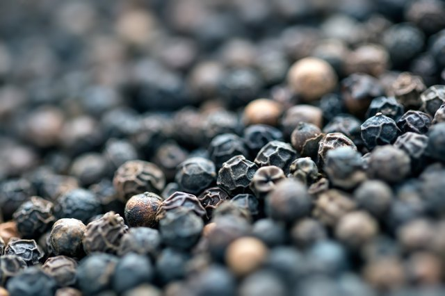 Black peppercorn background