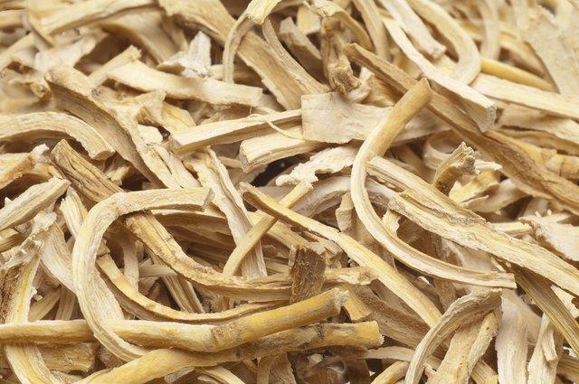 cut dried root