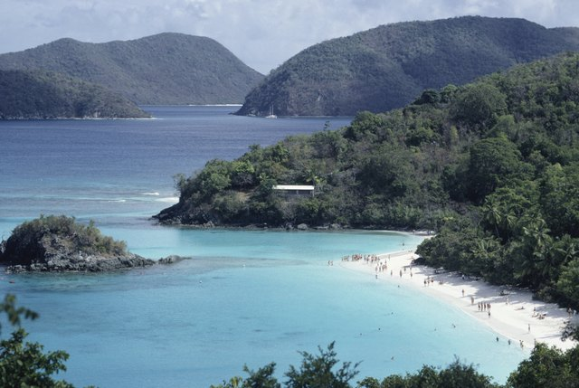View of Trunk Bay, St. John, US Virgin Islands