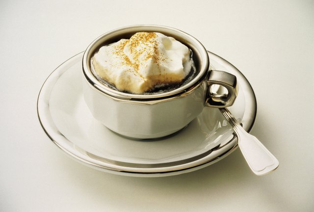 Caff? con panna ('long' espresso with cream topping, Rome)