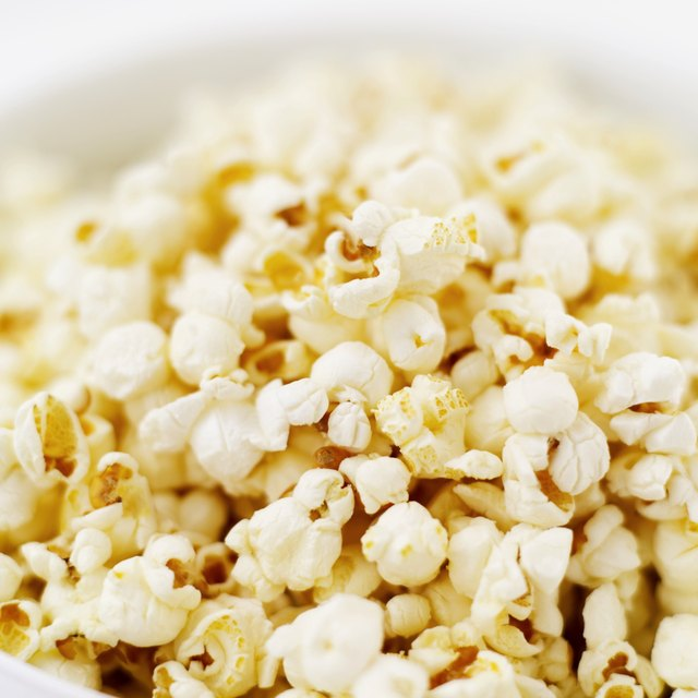 close-up of a bowl of popcorn