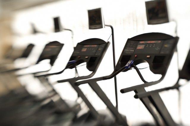 Treadmills in gym