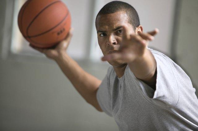 Man passing a basketball