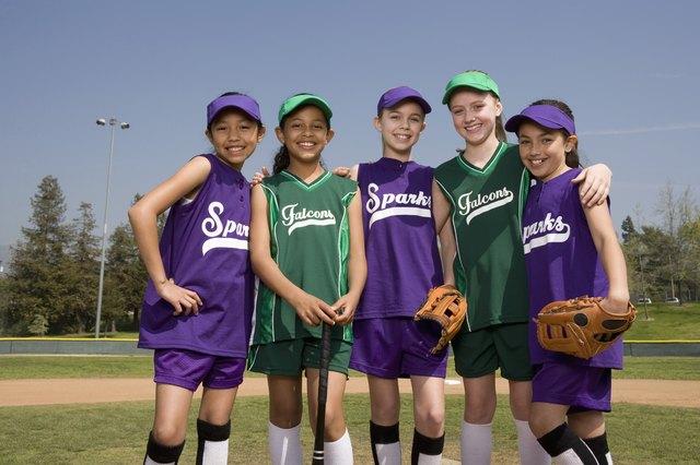 Portrait of little league teams