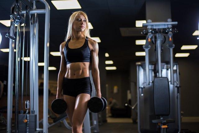 Beautiful muscular fit woman