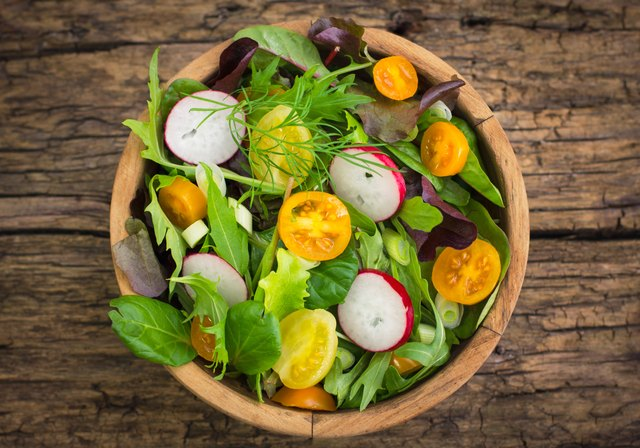 Healthy mixed salad in the bowl