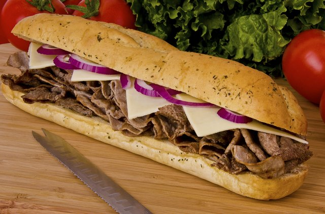 Calories in a Subway Steak & Cheese Sub