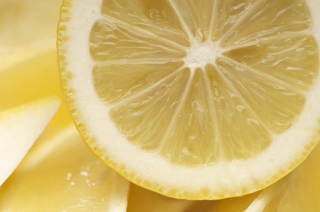 Cross section of lemon