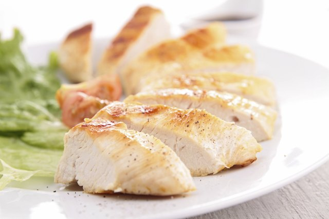 grilled silce of chicken and sauce