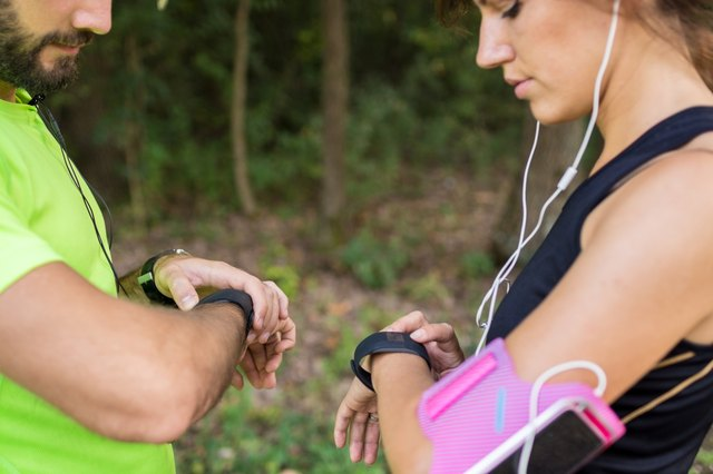 Their fitness trackers help them to perform better