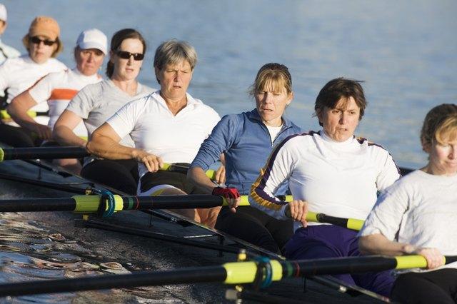 Female Crew Team Rowing