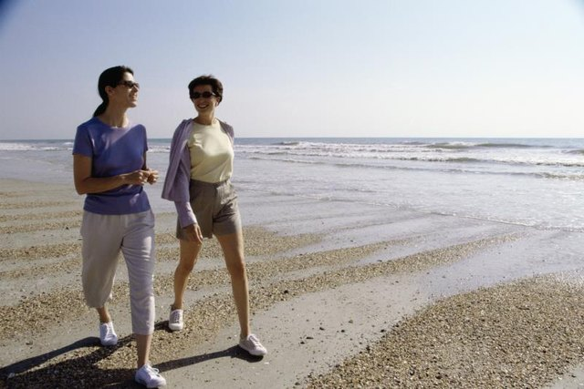Whether on a beach or down the road, walking is great for your health.