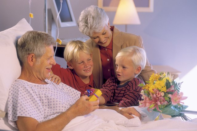 Grandparents and grandchildren in hospital