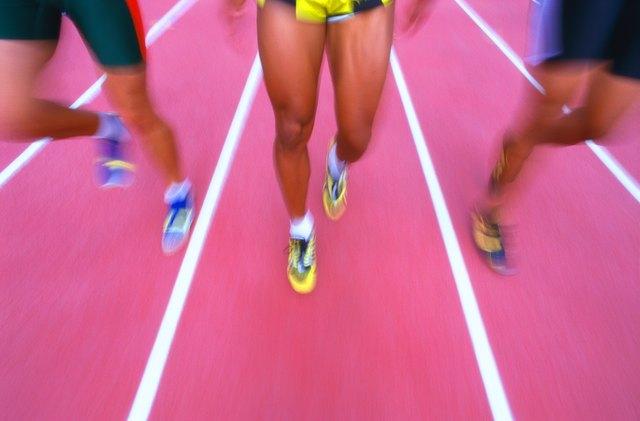 shot of athletes feet running