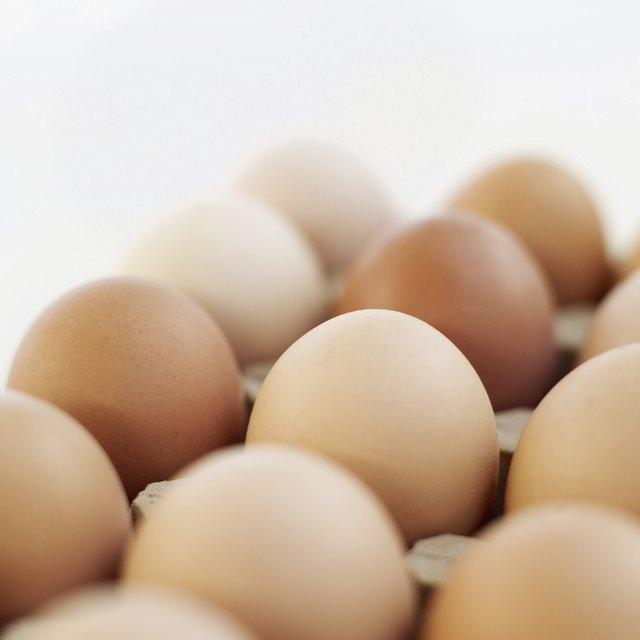 Close-up of farm eggs