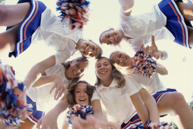 Portrait of a group of cheerleaders