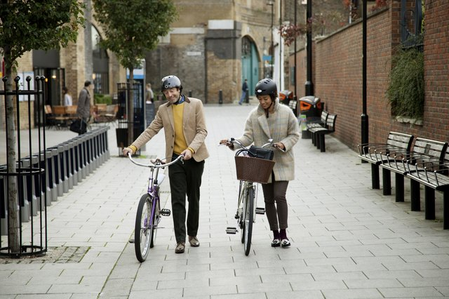 Happy couple with bicycles