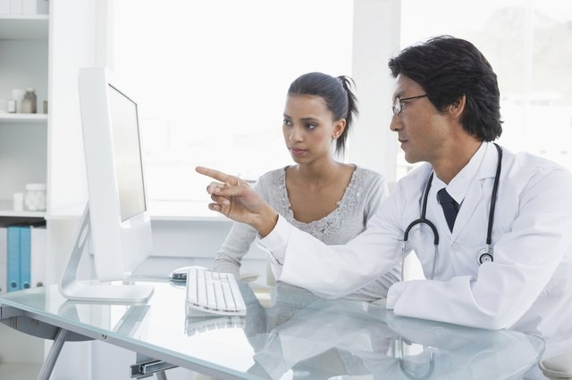Doctor explaining results to his patient