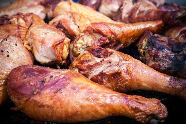 Fine grilled turkey legs