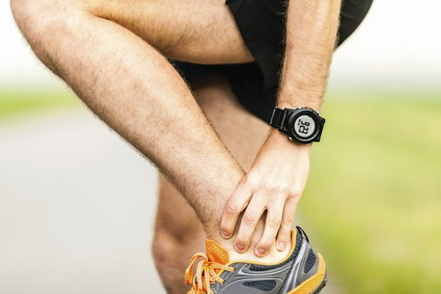 Runner injured ankle physical pain