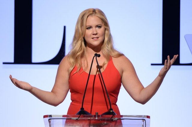 LOS ANGELES, CA - OCTOBER 19: Honoree Amy Schumer speaks onstage during the 22nd Annual ELLE Women in Hollywood Awards presented by Calvin Klein Collection, L'Oréal Paris and David Yurman at the Four Seasons Los Angeles at Beverly Hills on October 19, 2015, in Beverly Hills, California. (Photo by Michael Kovac/Getty Images)