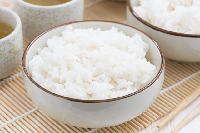 Chinese traditional steam white rice