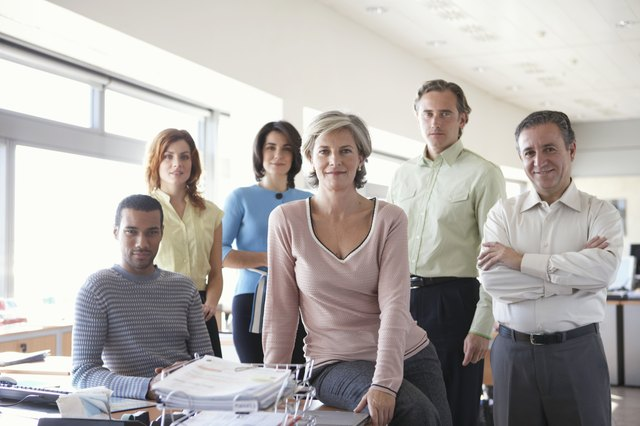 Group of business colleagues in office, portrait