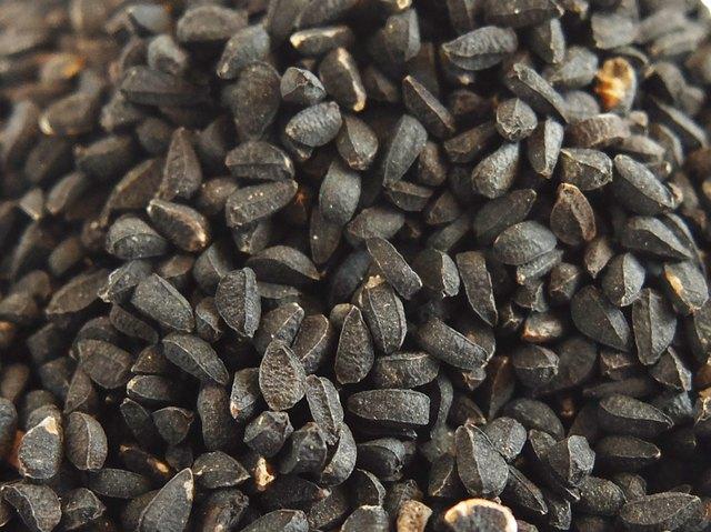 Black Cumin seed background.