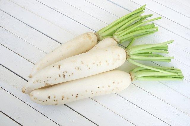 fresh white radishes