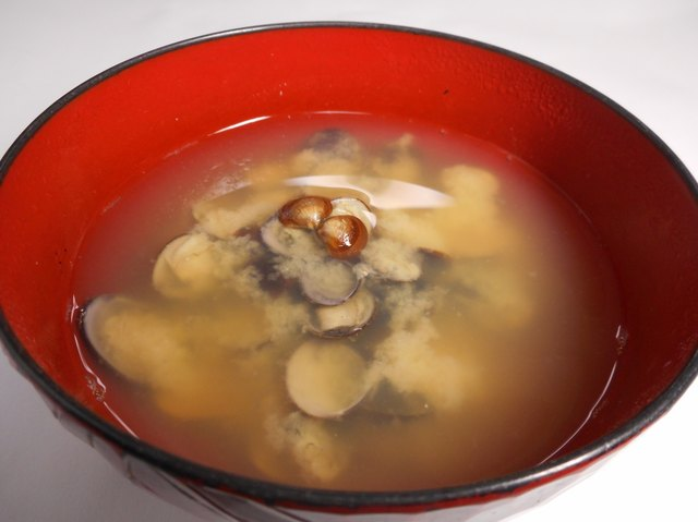 Miso soup of the corbicula