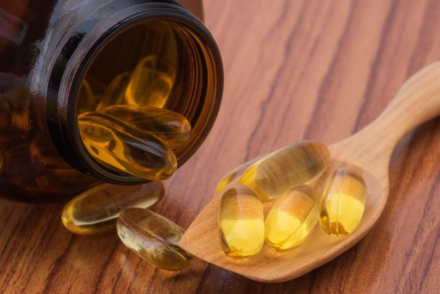Close-up fish oil omega3