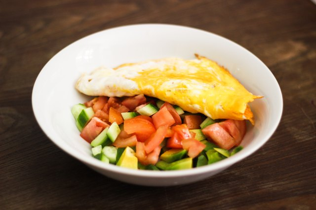 Breakfest - salad and omlet
