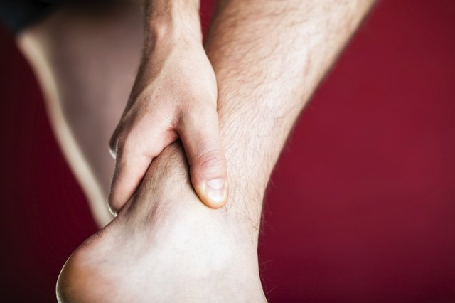 Physical injury, leg ankle pain