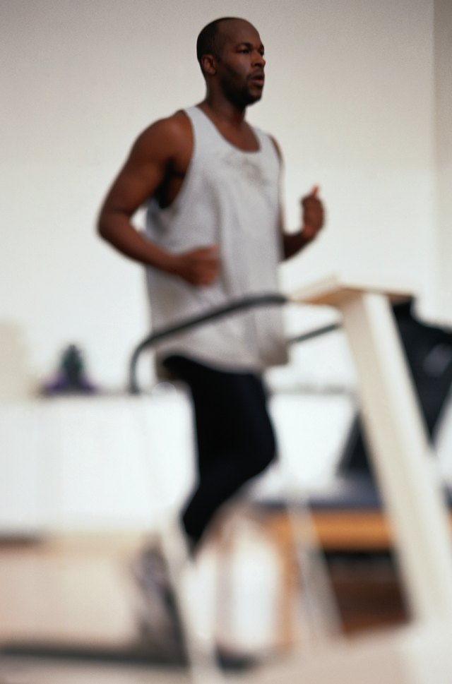 Man Running on a Treadmill in Physical Therapy