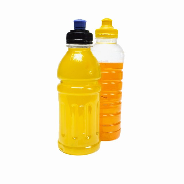 Close up of two bottles of soft drink