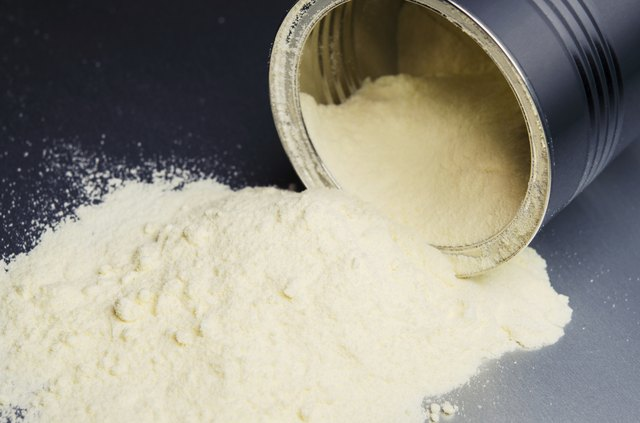 Can with powdered milk