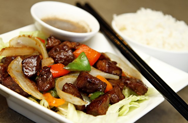 Steak stir fry with rice