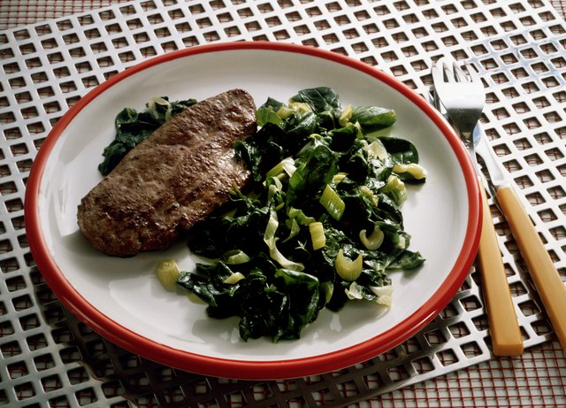 Veal Liver with Spinach
