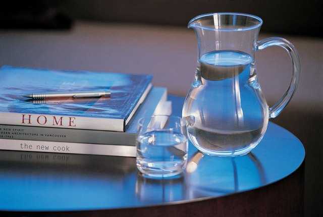 Pitcher of Water on Side Table
