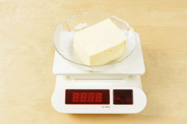 Butter on scale